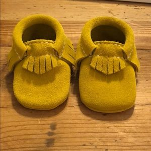 Freshly Picked Gold/Mustard Suede Moccasins